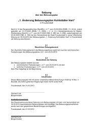 Bebauungsplan 1. Änderung - Textliche Festsetzung - Bauen-in ...