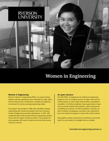 WIE Brochure - Department of Electrical and Computer Engineering ...