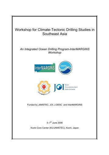 Climate-Tectonic Drilling Studies in SE Asia Workshop - European ...