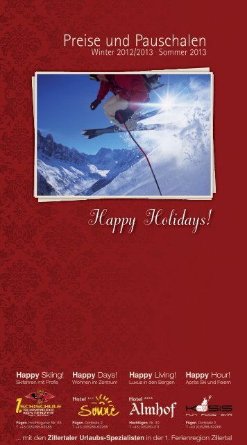 Happy Holidays! - Hotel Almhof