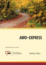 AWO-EXPRESS - AWO Seniorenzentrum am Stadtpark