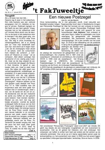 jrg. 38 nr. 1 jan. 2013 - Eerste Kerkraadse Philatelisten Vereniging
