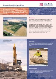 Harwell project profiles Restoration of the Southern Storage Area