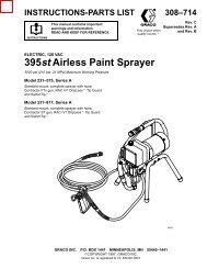308714C ELECTRIC, 120 VAC 395 st Airless Paint Sprayer - RenTrain