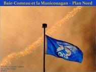Baie-Comeau et la Manicouagan – Plan Nord