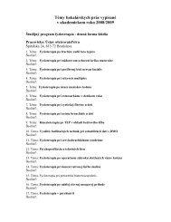 Témy bakalárskych prác vypísané v akademickom roku 2008/2009