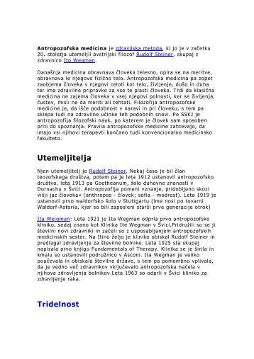 Rudolf Steiner - Antropozofska medicina - Antropozofija
