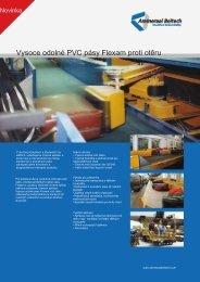 Vysoce odolné PVC pásy Flexam proti otěru
