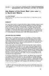 Ursus arctos L. - International Association for Bear Research ...