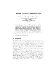 Similarity Measures for Multidimensional Data