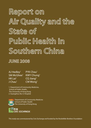Report on Air Quality and the State of Public Health in Southern China