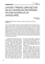 latviešu trimdas loma baltijas valstu okupācijas neatzīšanas politikā ...