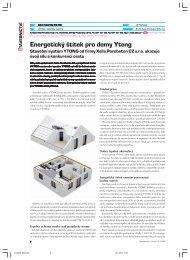 Energetický štítek pro domy Ytong - Stavebnictví a interiér
