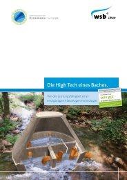 Die High Tech eines Baches. - Sahlbach Bau GmbH