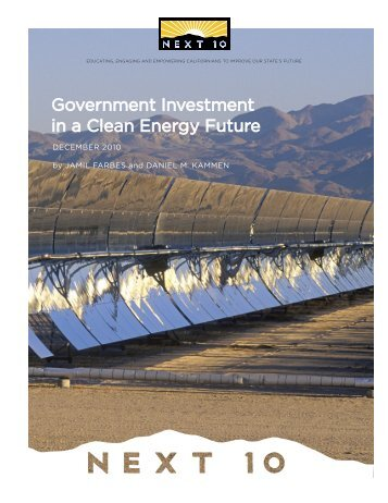 Government Investment in a Clean Energy Future - Renewable and ...