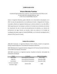 Arturo Morales Fuentes - Facultad de Ingeniería Mecánica y Eléctrica