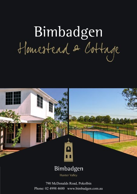 to download a photo album of the Bimbadgen Accommodation