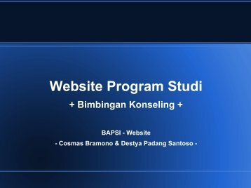 Website Program Studi - Universitas Sanata Dharma
