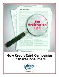 How Credit Card Companies Ensnare Consumers - Public Citizen