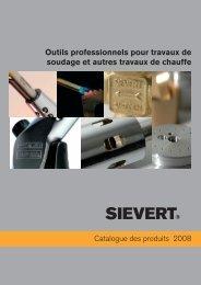Outils professionnels pour travaux de soudage et autres ... - Sievert AB