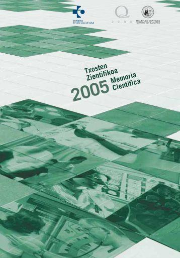 MEMORIA 2005 Científica pa pdf - Hospital de Basurto