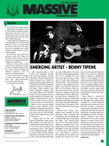 EMERGING ARTIST - BENNY TIPENE - Massive Magazine