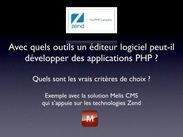 Avec quels outils un éditeur logiciel peut-il développer ... - Melis CMS