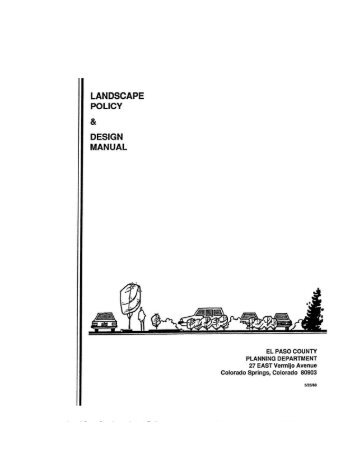 Landscape Policy & Design Manual - Administration Home - El Paso ...