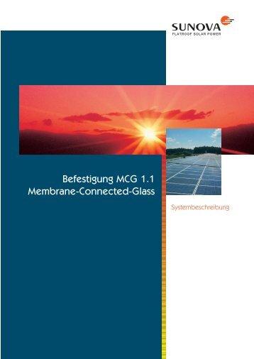 Befestigung MCG 1.1 Membrane-Connected-Glass - Sunova