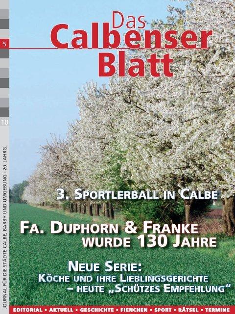 FA. DUPHORN & FRANKE WURDE 130 JAHRE