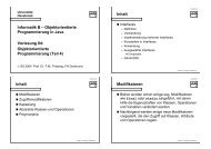 Objektorientierte Programmierung (Teil 4) - Vorlesungen ...