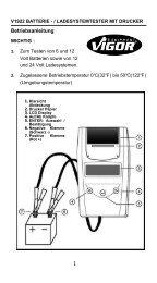 v1922 batterie - Vigor Equipment