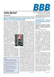 BBB-Info-Brief, Ausgabe 10/11 - Bundesverband der Träger ...