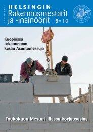 Yhdistyksen jäsenlehti 5/10, PDF tiedosto - Helsingin ...
