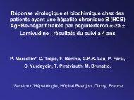 Réponse virologique et biochimique chez des patients ayant ... - Afef