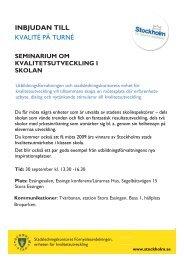 inbjudan till - Pedagog Stockholm