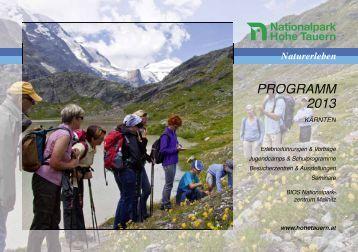 Nationalpark-Programm 2013 - Hohe Tauern