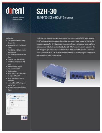 S2H-30 Brochure - Doremi Labs