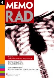 MemoRad 2006-4.pdf - Nederlandse Vereniging voor Radiologie