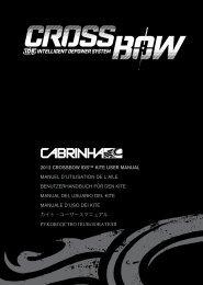 2012 CROSSBOW IDS™ KITE USER MANUAL ... - Cabrinha