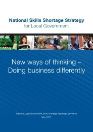 2007 National Skills Shortage Strategy for Local Government