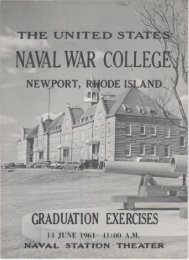 NAVAL WAR COLLEG - US Naval War College