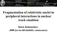 Fragmentation of relativistic nuclei in peripheral interactions ... - JINR