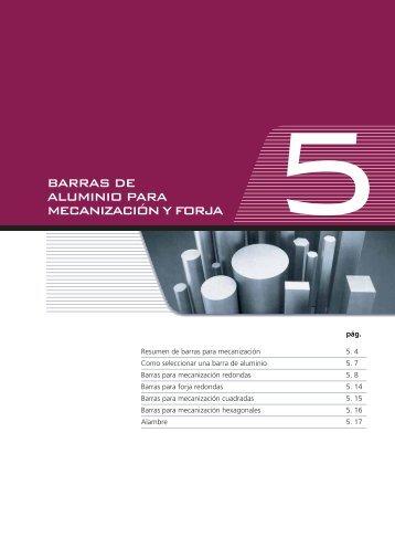 BARRAS DE ALUMINIO PARA MECANIZACIÓN Y FORJA - Alu-Stock