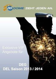 Exklusive VIP Angebote für: DEG DEL Saison 2013 / 2014 - ISS Dome