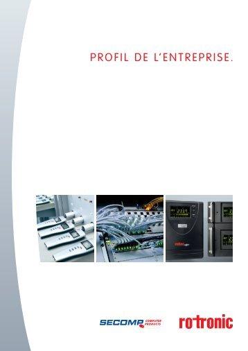 PROFIL DE L'ENTREPRISE. - Gate24.ch