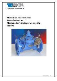 Manual de instrucciones Watts Industries Mantenedor/Limitador de ...