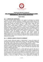 1 di 18 CAPITOLATO SPECIALE D'APPALTO PER L'AFFIDAMENTO ...