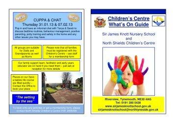 Children's Centre What's On Guide - Sir James Knott Nursery School ...