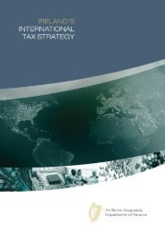 Department of Finance International Tax Strategy Statement